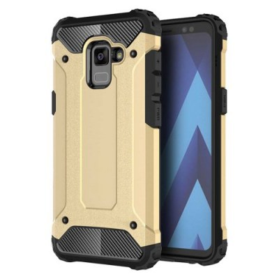 Hybrid Armor Case Tough Rugged Cover χρυσή (Samsung Galaxy A8 2018)3