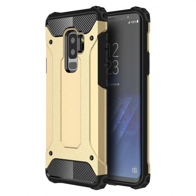 Hybrid Armor Case Tough Rugged Cover χρυσό (Samsung Galaxy S9 plus)