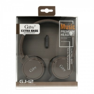 gjby-extra-bass-gj-12-jack-35mm-oem-λευκό-headset-with-microphone-brown
